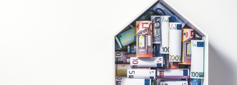 Geld voor een huis, euro, hypotheek, huis, geld, euro's